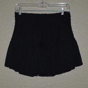 $154 Sz 40 6 IRO Black Eyelet Mini Skirt